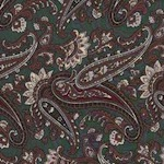 Silk Wild Rags Olive Paisley
