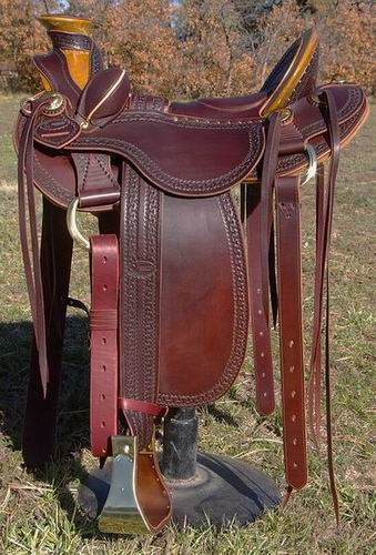 Out West Saddlery Walnut Stock Saddle