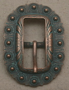Turquoise Copper Oval Berry Buckle