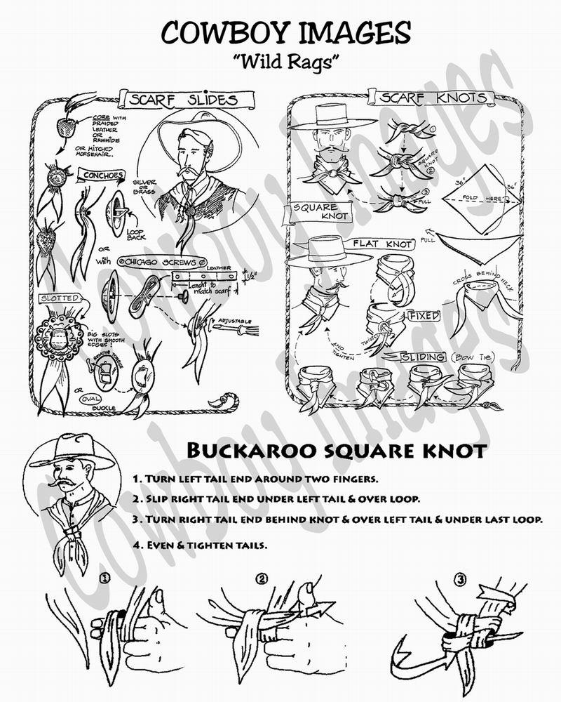 How To Tie A Buckaroo Square Knot