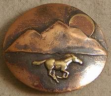 """BBHRMS-3 Horse Run/Mtn/Sun 3"""" Buckle"""