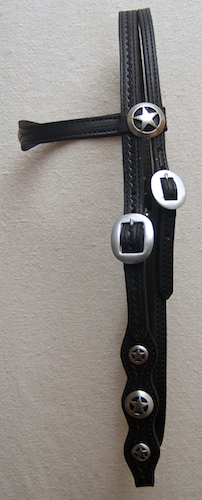 Headstall with Silver Star Conchos