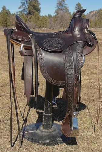 NO Ladies Astride Saddle on Slick 9 Tree
