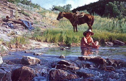 Western Art Ah, The Good Life by Wayne Justus