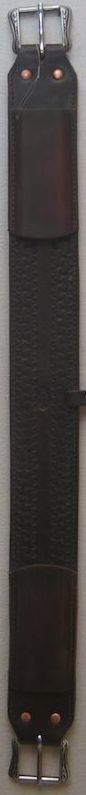 """3"""" wide back leather cinch"""