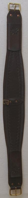 "4"" oval roper leather back cinch"