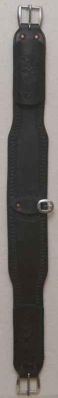 "4"" square roper leather back strap"
