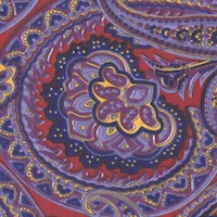 Wyoming Trader Calico Red & Blue Paisley
