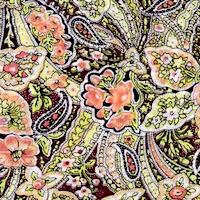 Wyoming Trader Calico Green Floral Paisley