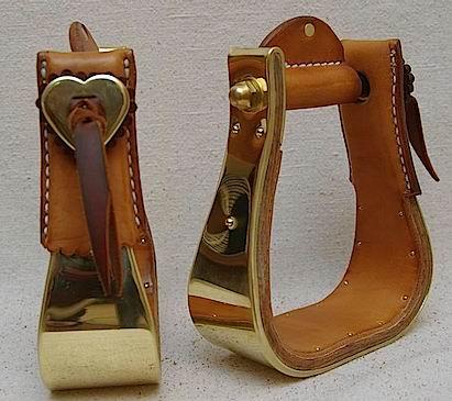 Top Caps w/Brass Heart Conchos