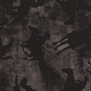 Austin Accents Ghost Rider Black and Grey 100% Silk Scarf
