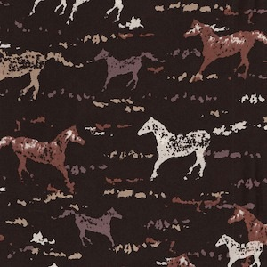 Austin Accents Horses on Black 100% Silk Scarf