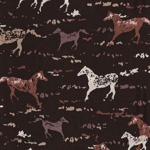 Austin Accents Horses on Black 100% Silk Scarf