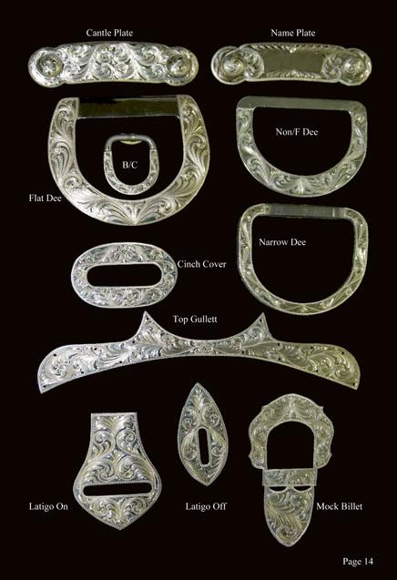 Silver Saddle Hardware Trim and Dees