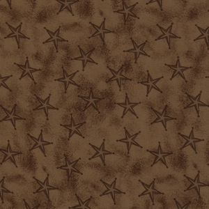 Austin Accents Stars Brown 100% Silk Scarf