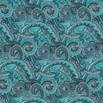 Austin Accents Turquoise Paisley Silk Scarf