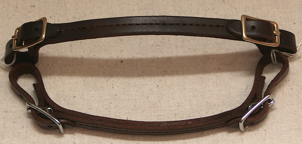 Stitched Curb Strap with Brass or Stainless Buckles
