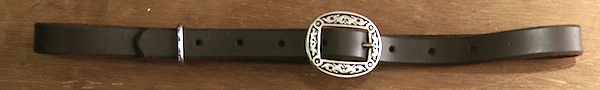 Out West Saddlery Plain Custom Curb Strap with Fancy Buckle