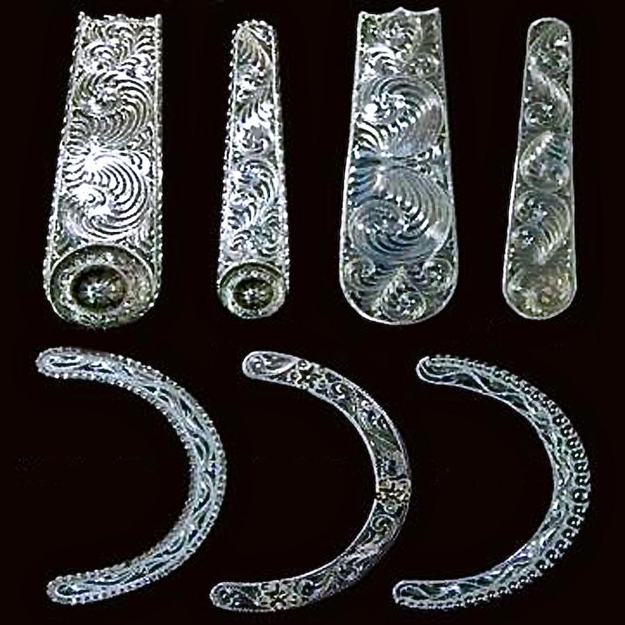Silver Bridle Plates