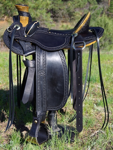 Black Western Saddle
