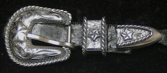 Sterling Silver Hat Band Buckle