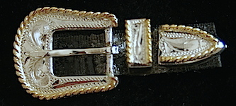 Plated Silver Hat Band Buckle