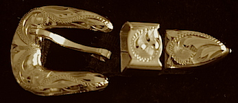 """3/8"""" Brass Hat Band Buckle"""