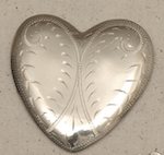 "Engraved 3"" Heart Concho"