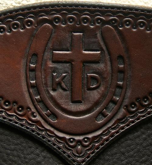Cross Horseshoe Custom Chinks
