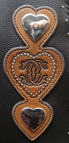 Heart Monogram Custom Chinks