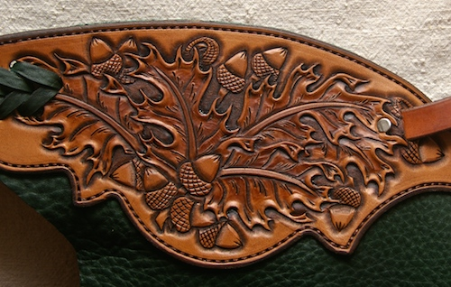 Oak and Acorn Tooled Chinks