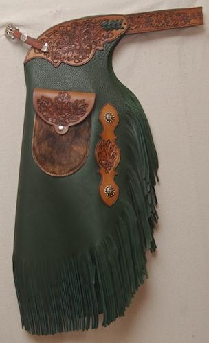 Green Custom Chinks