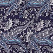 Cowboy Images Midnight Blue Paisley