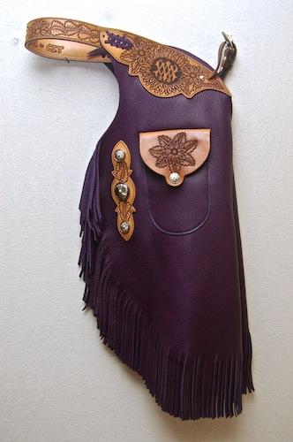Purple Custom Chinks
