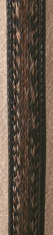 "28"" Black Horse Hair Belt"