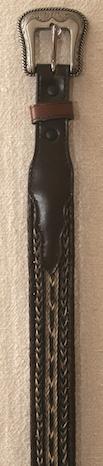"28"" Brown Horse Hair Belt"