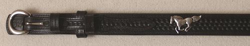 Black Ranger Belt with Horse Conchos