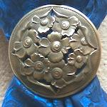 Jeremiah Watt Multi Flower Filigree Bronze Scarf Slide