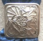 Jeremiah Watt Single Flower Square Bronze Scarf Slide