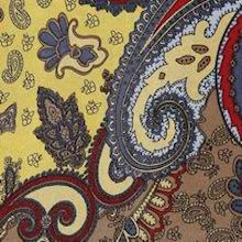 Cowboy Images Gold & Rust Paisley