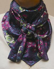 Cowboy Images Purple on Black