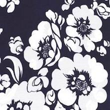 Cowboy Images White Flowers on Navy
