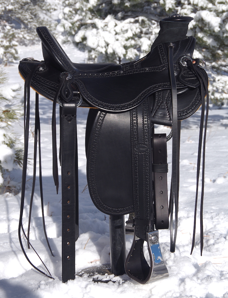 Black Vaquero Stock Saddle