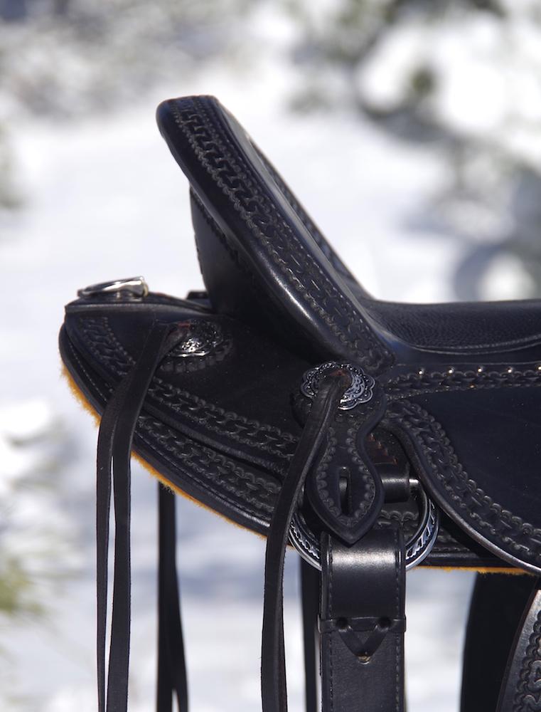 Black Vaquero Stock Saddle