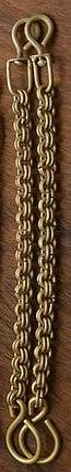 Brass Double Link Rein Chains