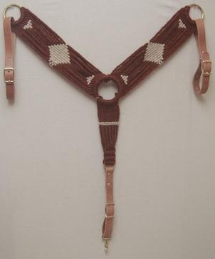 Sorrel/Natural Mohair Breast Collar