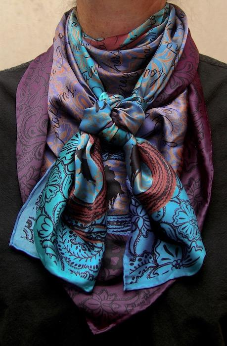 Houlihan Too Wild Wild Rags Silk Scarf
