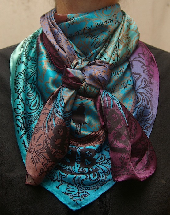 The Houlihan Too Wild Wild Rags Silk Scarf