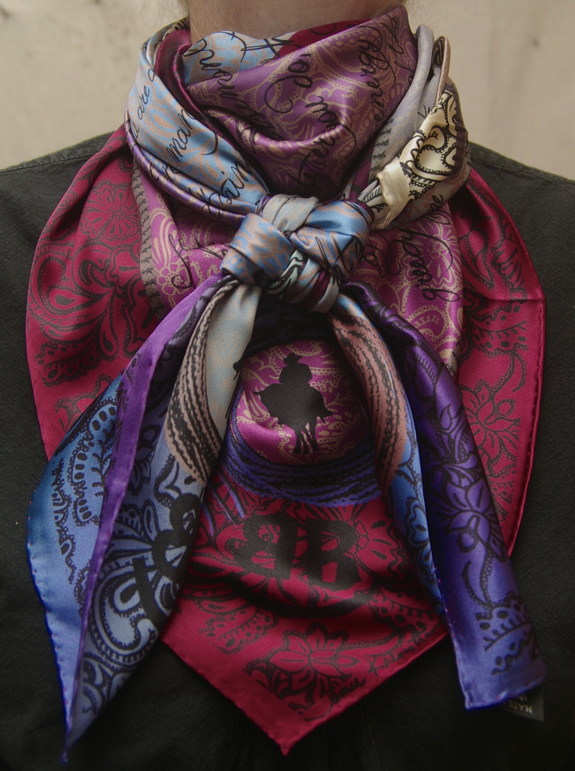 Every Cowboy Needs a Good Houlihan Wild Wild Rags Silk Scarf