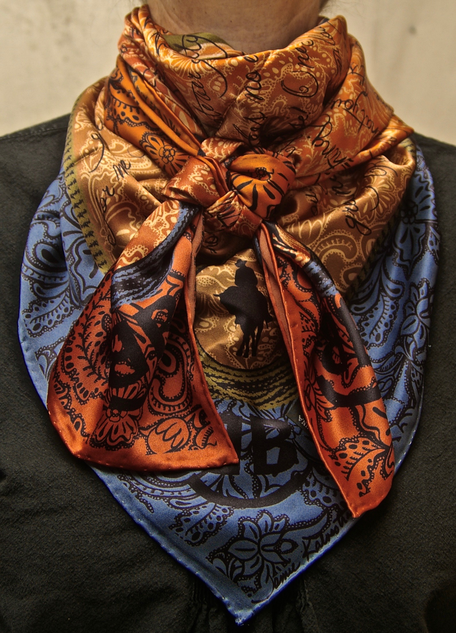 The Houlihan Wild Wild Rags Silk Scarf